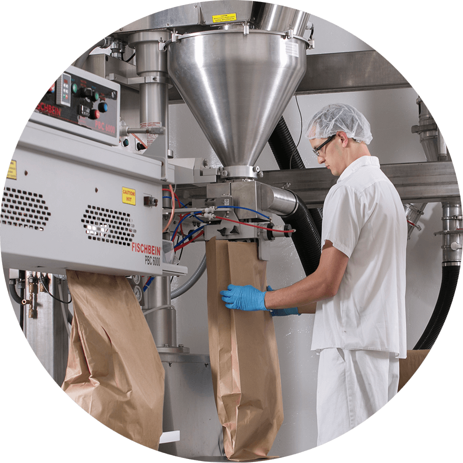 packaging station worker