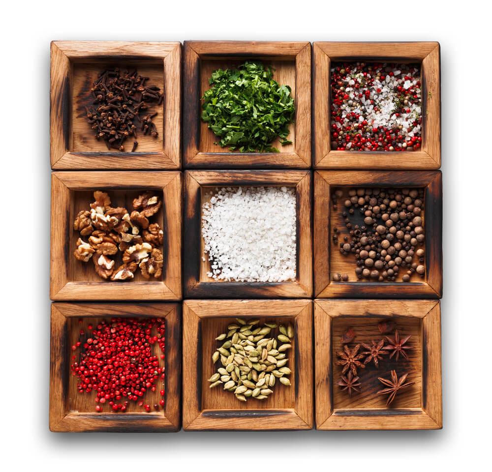 box of ingredients